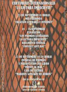 Entrega de premios La lectora impaciente 2006