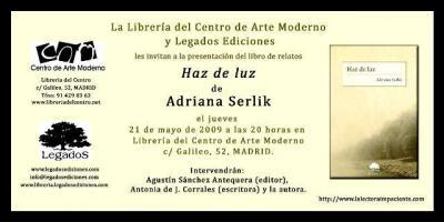 PRESENTACIÓN HAZ DE LUZ EN MADRID