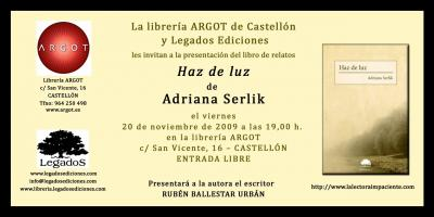 PRESENTACIÓN DE HAZ DE LUZ EN CASTELLÓN